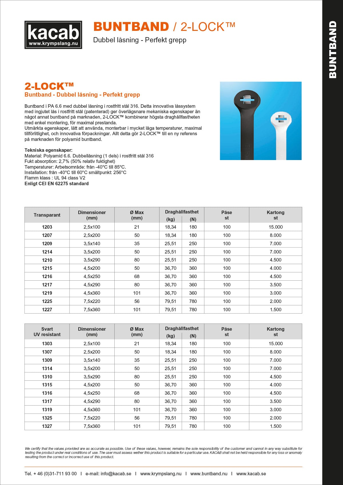 2-Lock Buntband