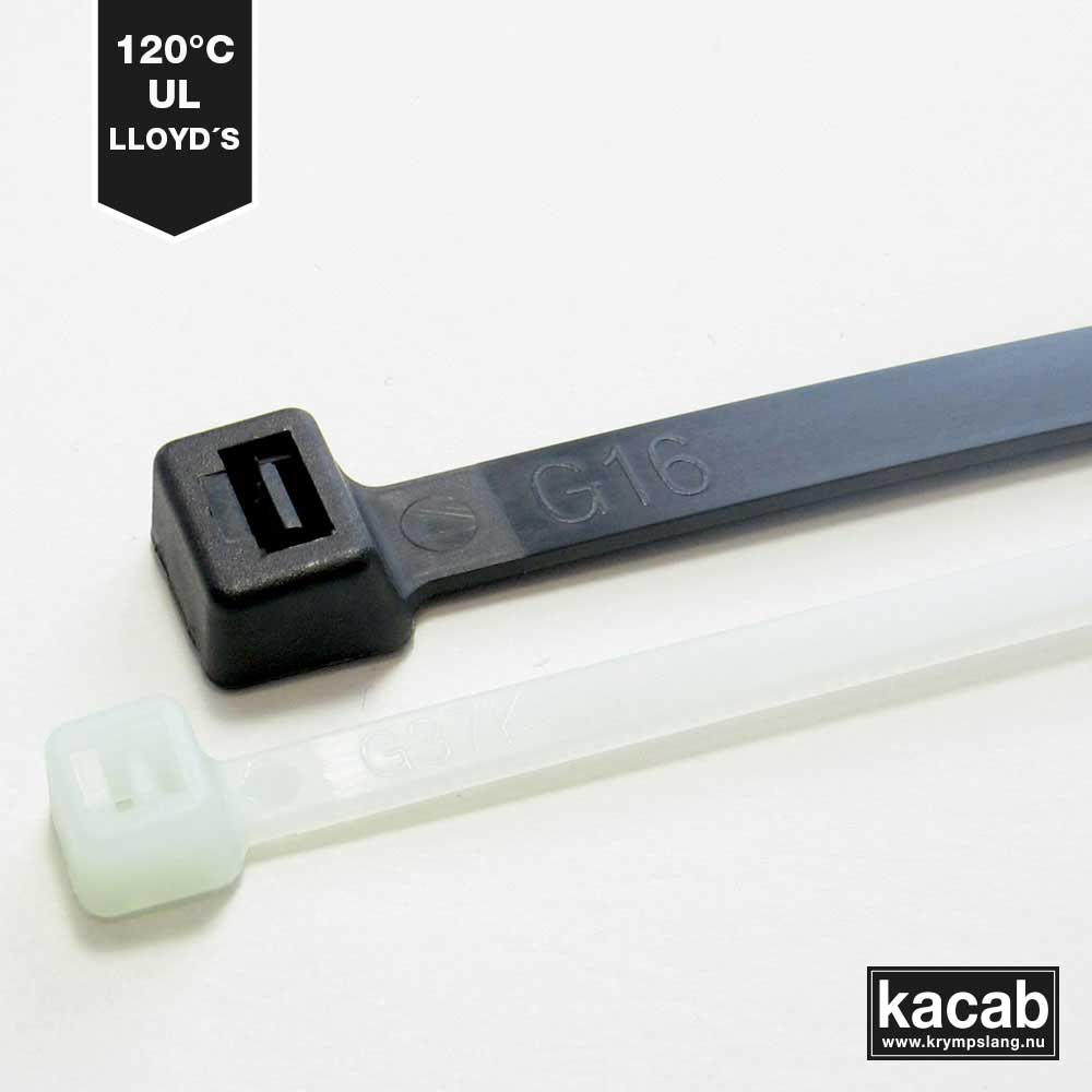 Heat-resistant cable ties.