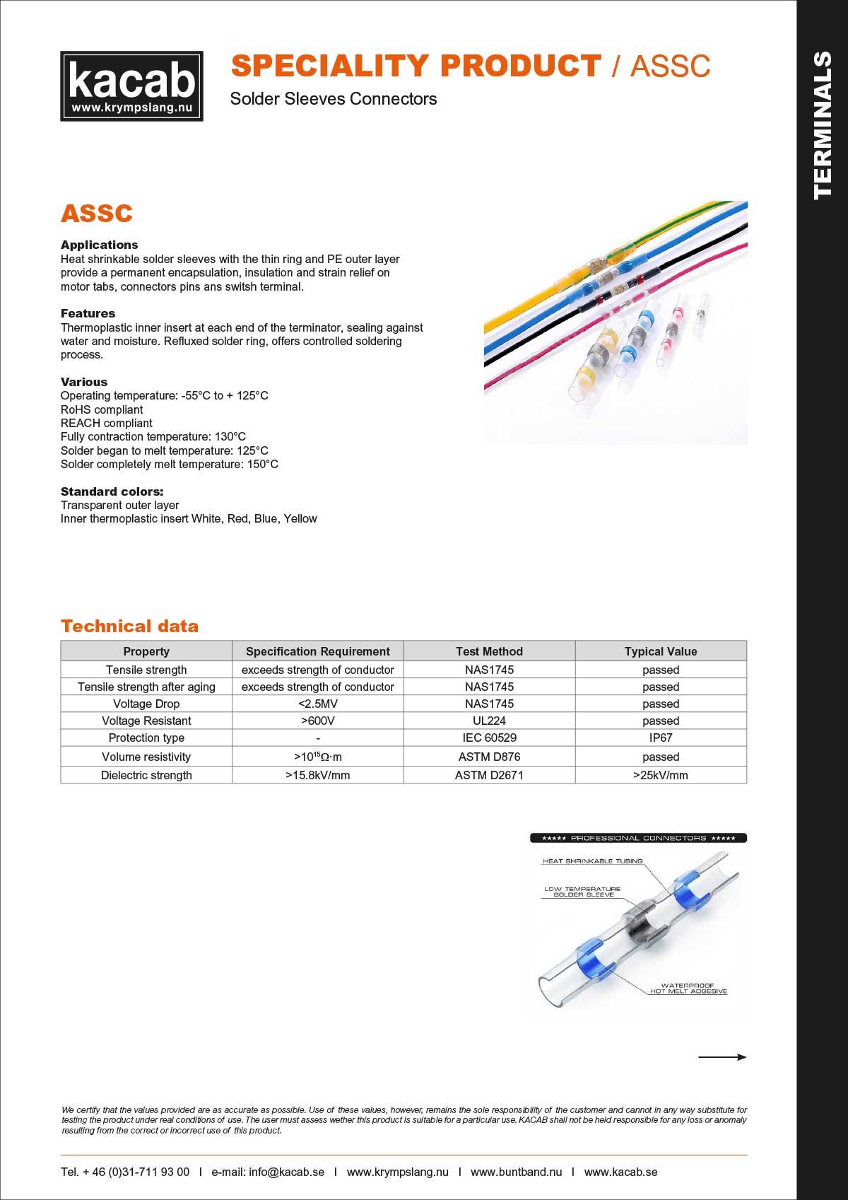 ASSC-solder sleeves connectors