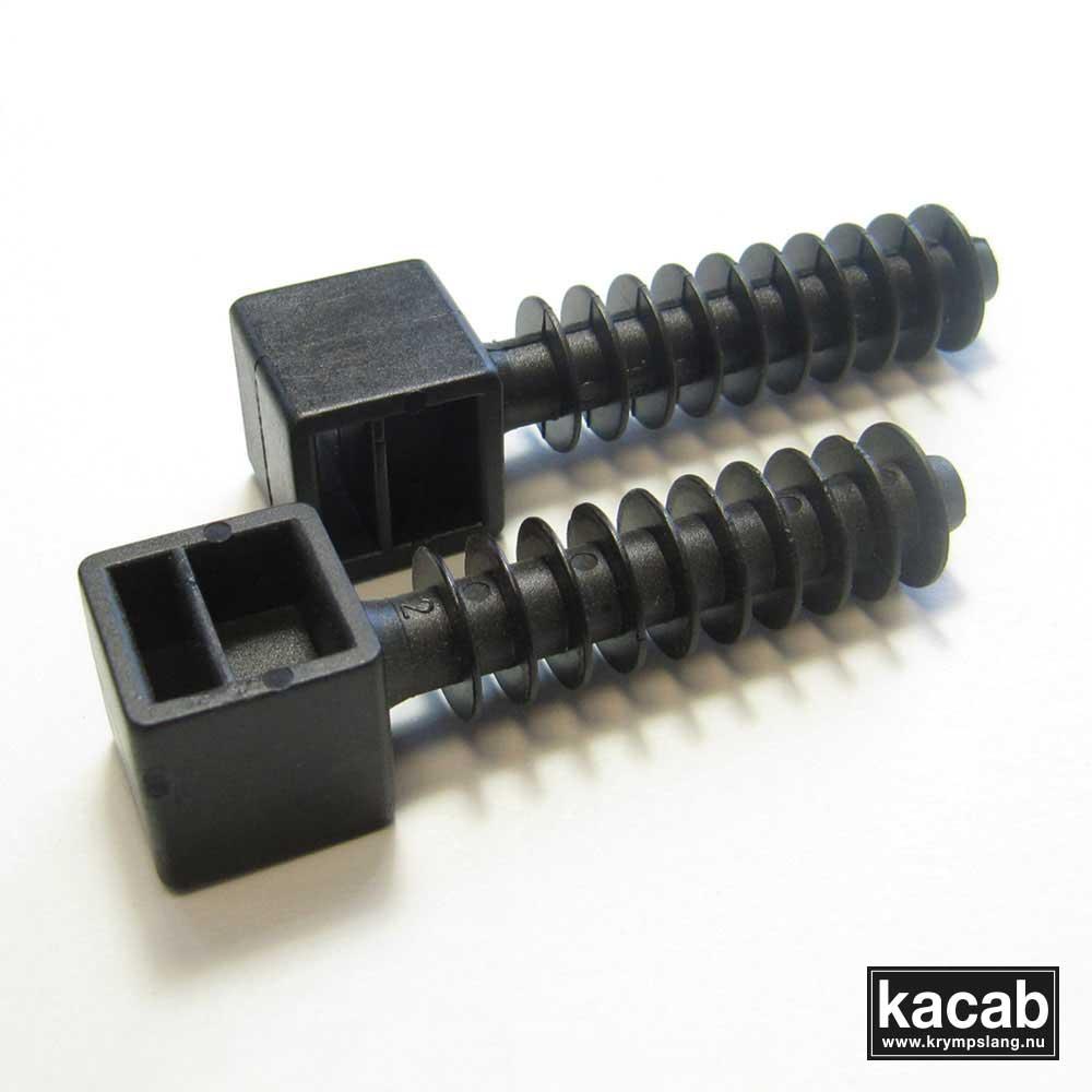 Wall plug for cable ties