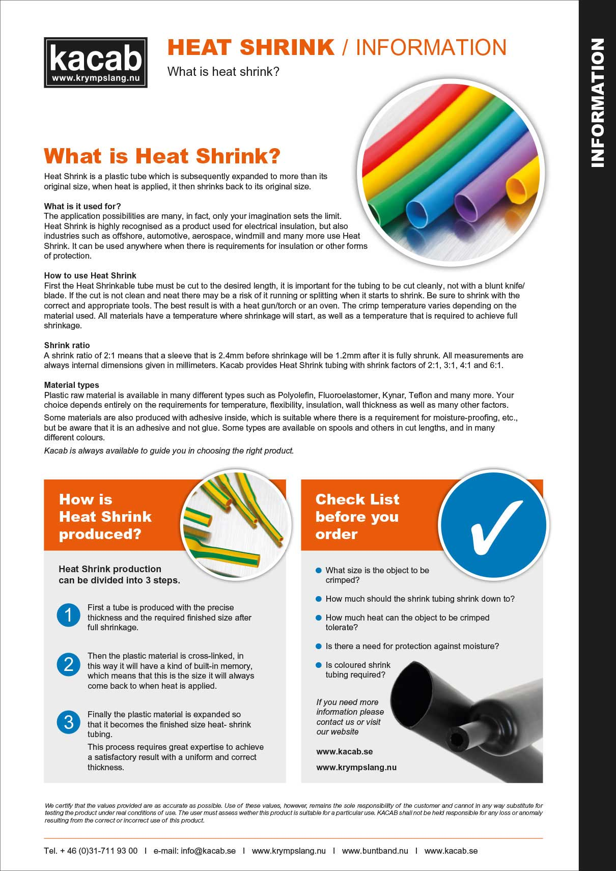 Guide to our Heat Shrink Tubing